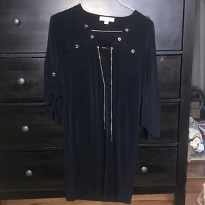 Michael KORS navy gold chain dress